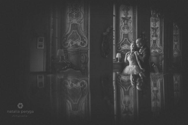 Sesja ślubna, w pałacu, romantyczna, para młoda, Legnica, Natalia Peryga FOTOGRAFIA